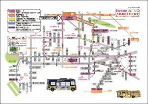 Image: Mitaka city bus service distribution diagram (link to extended image)